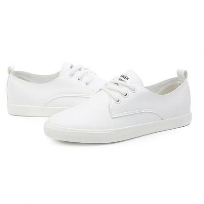 Sneakers Women Casual Leather Lacin..