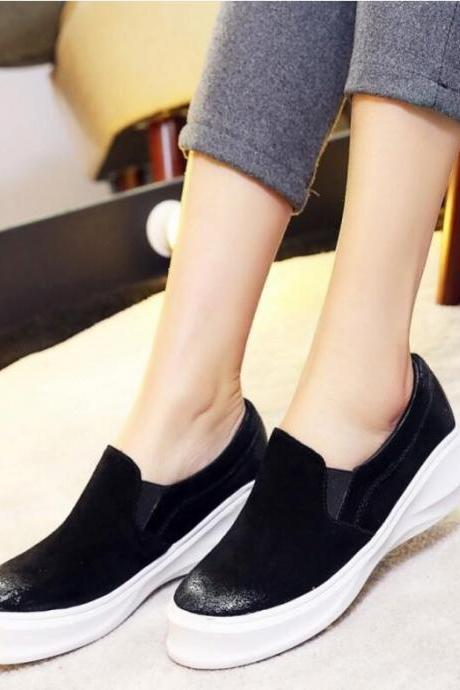 Women's Pure Color Fashion Suede Flat Shoes